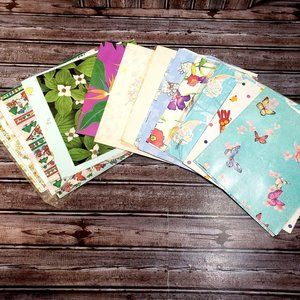 Vintage 1980s/90s Wrapping Paper Bundle